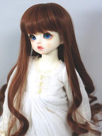 BJD Wig Brown Curl Hair for...