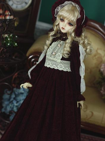 Bjd Clothes Girl Wine Long ...
