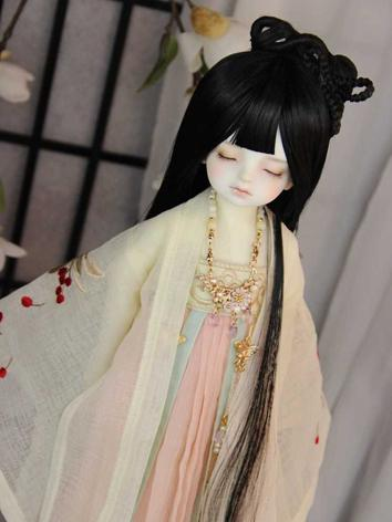 BJD Wig Girl Black Long Ancient Hair for SD Size Ball-jointed Doll