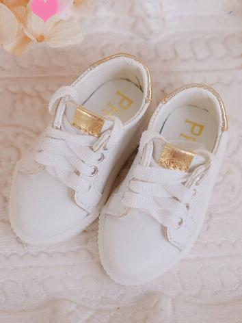 1/6 Girl/Boy White Sports Shoes for YOSD Ball-jointed Doll