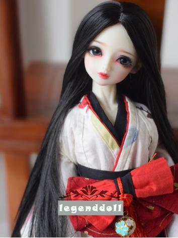 BJD Wig Girl Long Straight Hair for SD/MSD Size Ball-jointed Doll