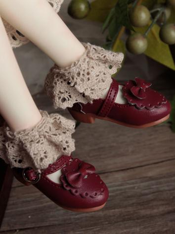 Bjd Girl Wine Shoes for MSD...