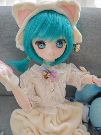 BJD Wig Girl White/Gold/Blue Hair for SD Size Ball-jointed Doll