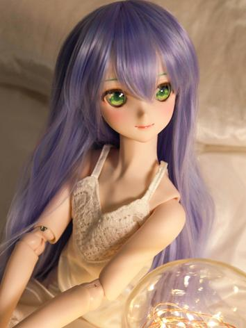 BJD Wig Girl Purple Culry Hair for SD Size Ball-jointed Doll