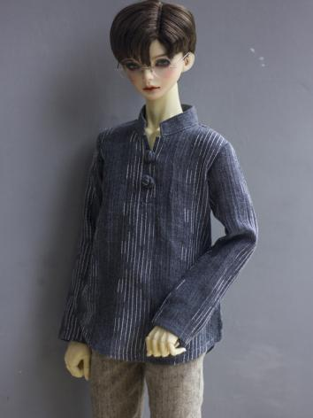 1/3 1/4 70cm Clothes Gray Stripe Shirt A252 for MSD/SD/70cm Size Ball-jointed Doll