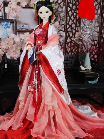 1/3 Clothes Girl Ancient Costume Dress Outfit for SD Ball-jointed Doll