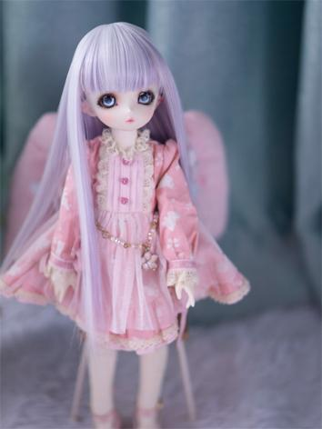 BJD Wig Girl Purple Straigh...