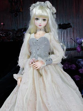 Bjd Clothes Girl Retro Long Dress for SD10/SD13 Ball-jointed Doll