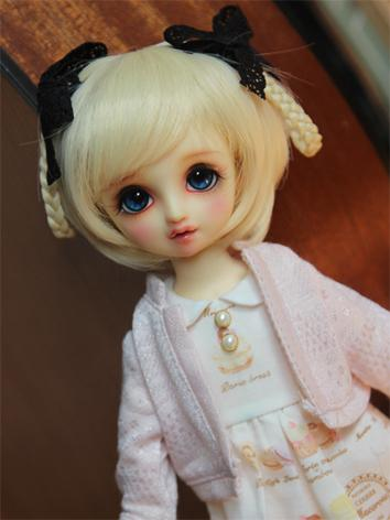 BJD Wig Girl Yellow Hair fo...