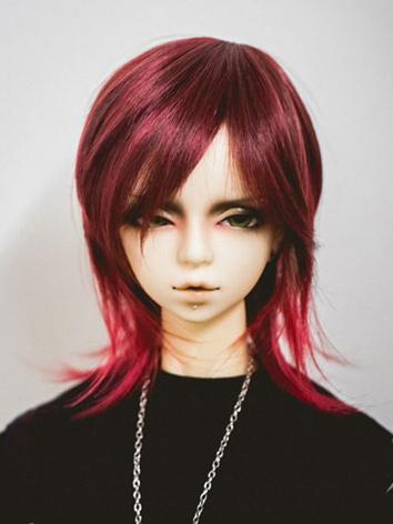 BJD Wig Boy Wine Hair for SD Size Ball-jointed Doll