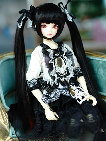 BJD Wig Girl Black Hair Wig...