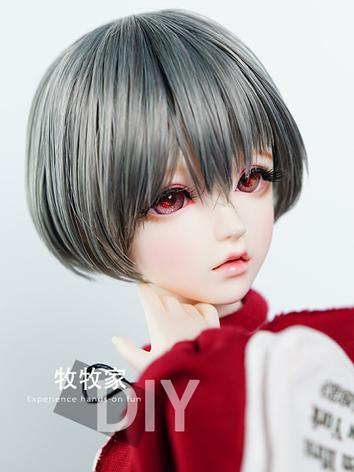 BJD Wig Girl Gray Short Hai...