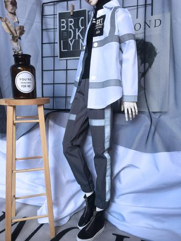 BJD Clothes Boy Gray Trouse...