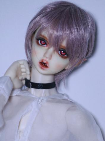 BJD Wig Boy Purple Short Ha...