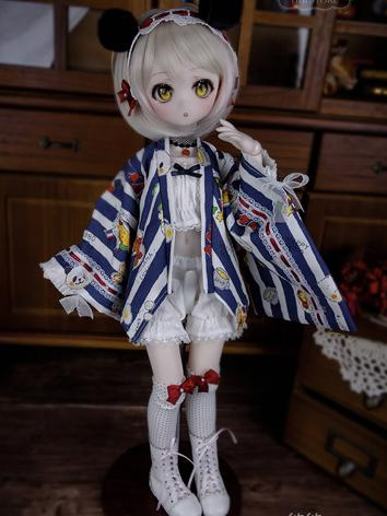 1/4 BJD Clothes Blue Dress Suit for MSD Ball-jointed Doll