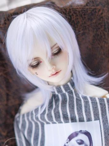 BJD Wig Boy/Girl White Hair...