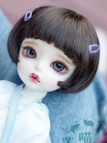 BJD Wig Girl/Boy Dark Brown Short Hair for SD/MSD/YSD Size Ball-jointed Doll