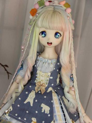 BJD Wig Girl Styled Wig Hair for SD/MSD Size Ball-jointed Doll