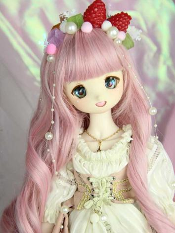 BJD Wig Girl Pink Styled Wi...