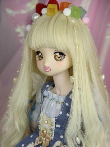 BJD Wig Girl Light Yellow Styled Wig Hair for SD/MSD Size Ball-jointed Doll