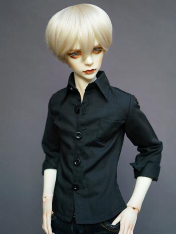 BJD Black Slim Coat Shirt for SD/MSD/70cm Size Ball-jointed Doll