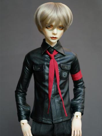 BJD Black Slim Coat shirt With Tie for Boy SD Size Ball-jointed Doll