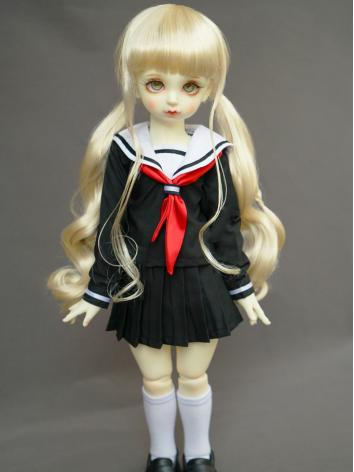 BJD Girl Black Dress Sailor...