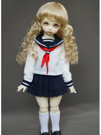 BJD Girl White Dress Sailor...