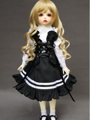 BJD Clothes Black and Write...