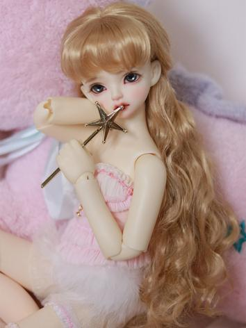 BJD Wig Gold Curly Hair Wig...