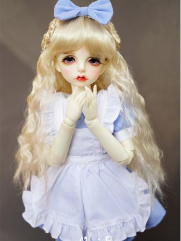 BJD Blue Doll Maid Dress Su...