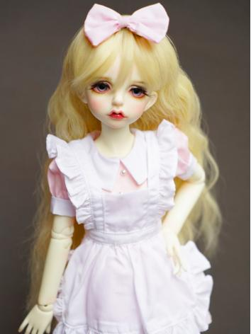 BJD Pink Doll Maid Dress Suit Clothes For MSD/YOSD Ball-jointed Doll