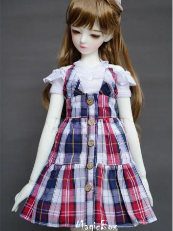 BJD Doll Grid Dress Suit Clothes For MSD/SD Ball-jointed Doll