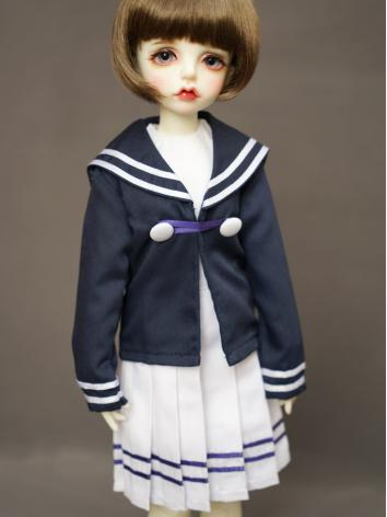BJD Clothes Dress Sailor Su...