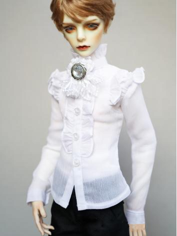 BJD White Shirt Coat for Boy 70cm/SD/MSD Size Ball-jointed Doll