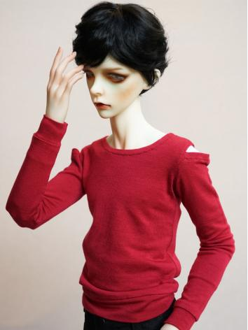 BJD Clothes Boy Red T-shirt...