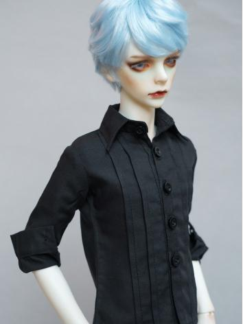 BJD Black Shirt Coat for Boy 70cm/SD/MSD/YOSD Size Ball-jointed Doll