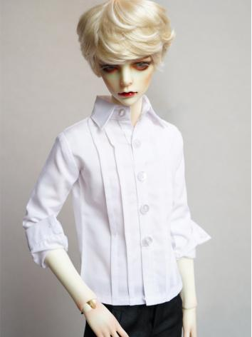 BJD White Shirt Coat for Bo...