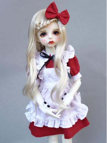 BJD Red Doll Maid Dress Sui...