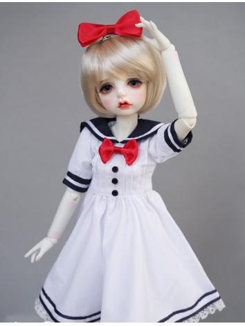 BJD White Sailor Doll Dress...