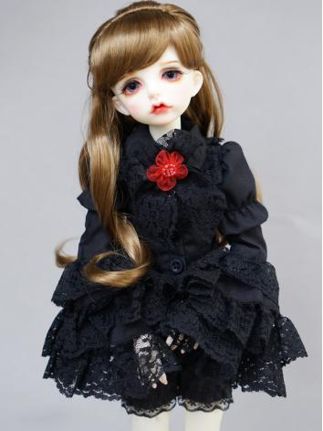 BJD Black Doll Lace Shirt C...