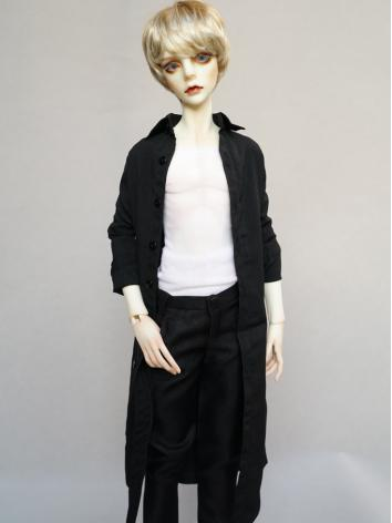 BJD Black Long Shirt Coat f...