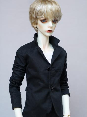 BJD Black Casual Jacket Coat for Boy SD Size Ball-jointed Doll