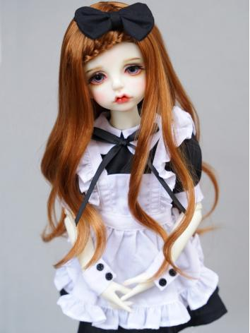 BJD Black White Doll Maid D...