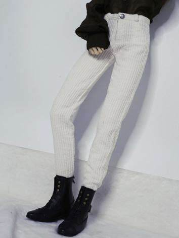 1/3 1/4 70cm Clothes White/Pink Corduroy Trousers A261 for MSD/SD/70cm Size Ball-jointed Doll