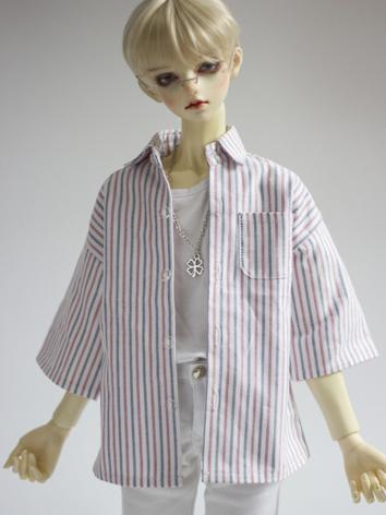 1/3 1/4 70cm Clothes Stripe Shirt A258 for MSD/SD/70cm Size Ball-jointed Doll
