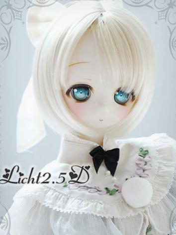 BJD Wig Girl Cream/Light Brown Short Hair [24] for SD Size Ball-jointed Doll