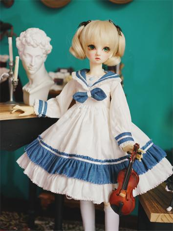 BJD Clothes Girl Navy Dress...