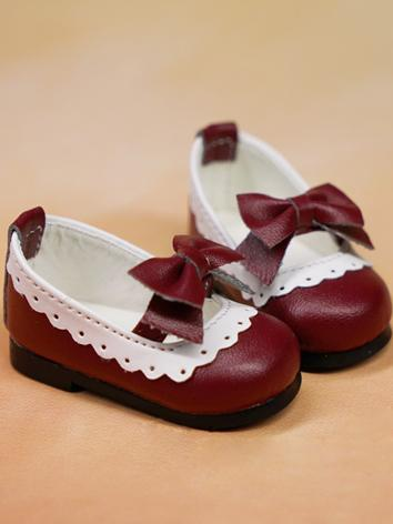 BJD 1/4 Shoes Sweet Girl Pink/Wine/White Shoes for MSD Ball-jointed Doll