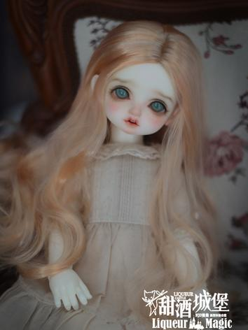 BJD Wig Light Gold/Chocolat...